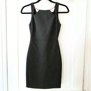 Zara Black Sleeveless Cutout Neckline Sheath Dress